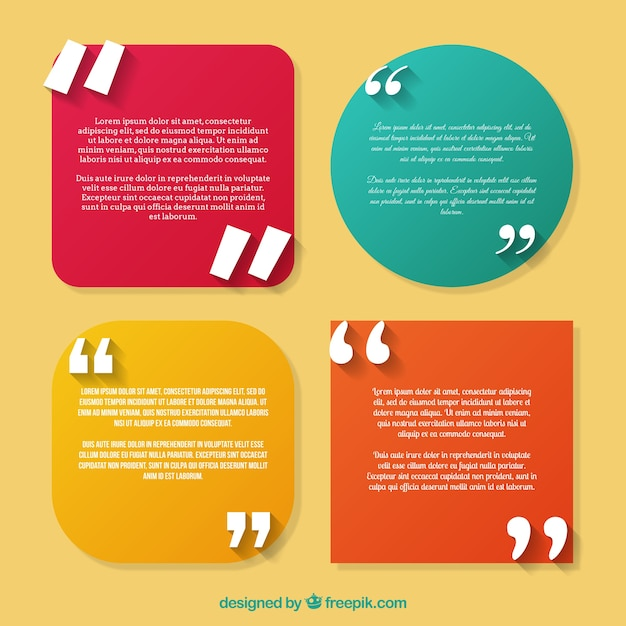set of quotes template vector free download