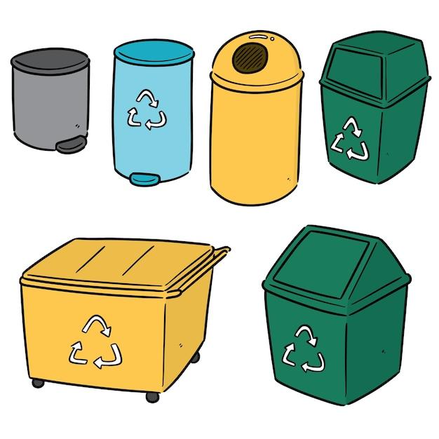 リサイクルごみのセット Premiumベクター