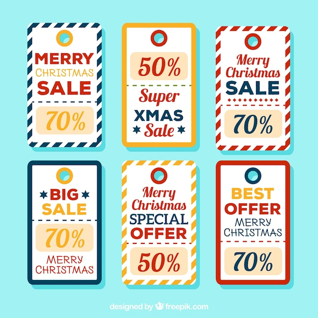 Set of retro stickers for christmas sales