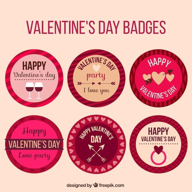 Round Valentine Stickers