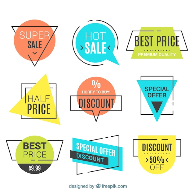 Set of sale banners Free Vector