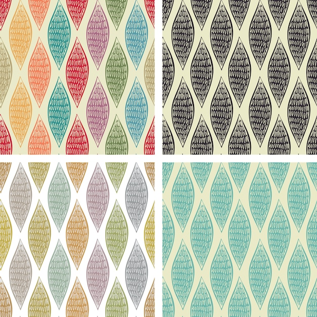 Set of seamless abstract patterns Free Vector