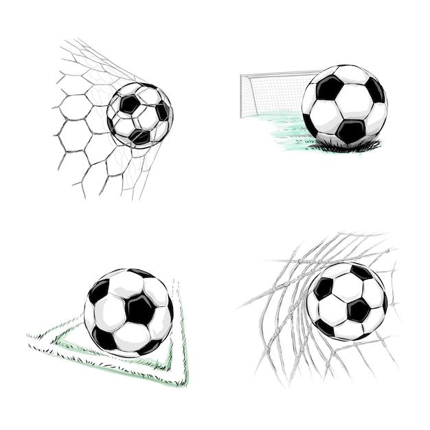 イラスト サッカー ボール シンプルなサッカーボールイラストのフリー素材|イラストイメージ