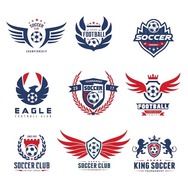 Set Of Soccer Football Logo Template Premium Vector
