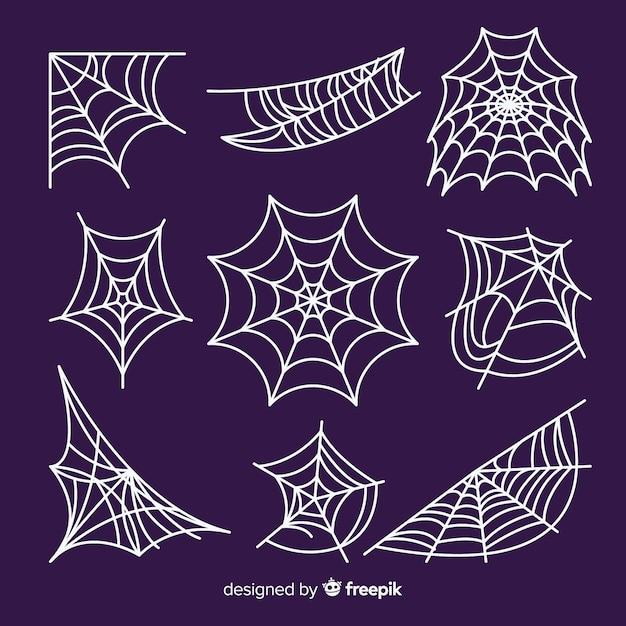 Набор пауков Premium векторы