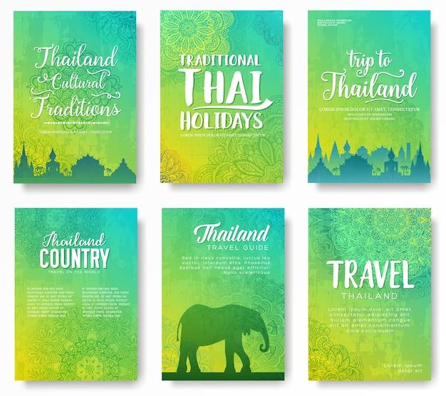 タイ国飾りコンセプトのセット Premiumベクター