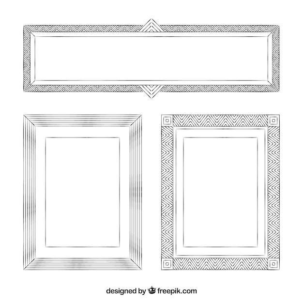 Set of three decorative frames Vector | Free Download