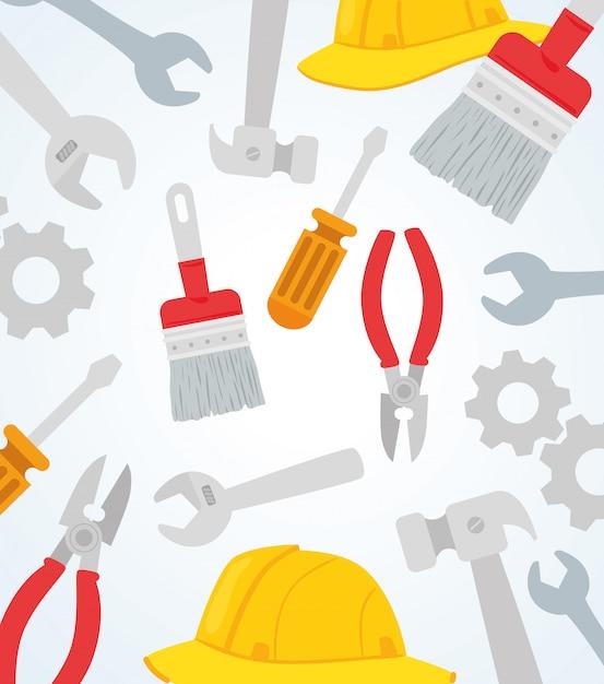 Набор инструментов строительного оборудования Premium векторы