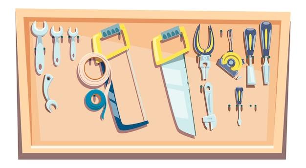 大工のためのツールのセット 無料ベクター