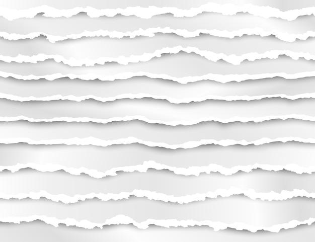 Набор рваных бумажных полос иллюстрации Premium векторы