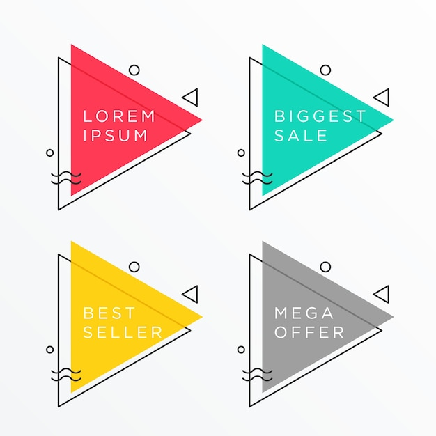 Triangle vectors photos and psd files free download - Text banner design ...