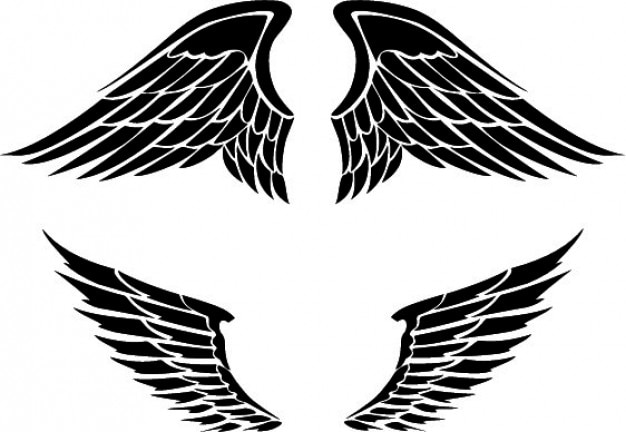 set of two wings designs vector free download rh freepik com free vector bird wings free vector eagle wings