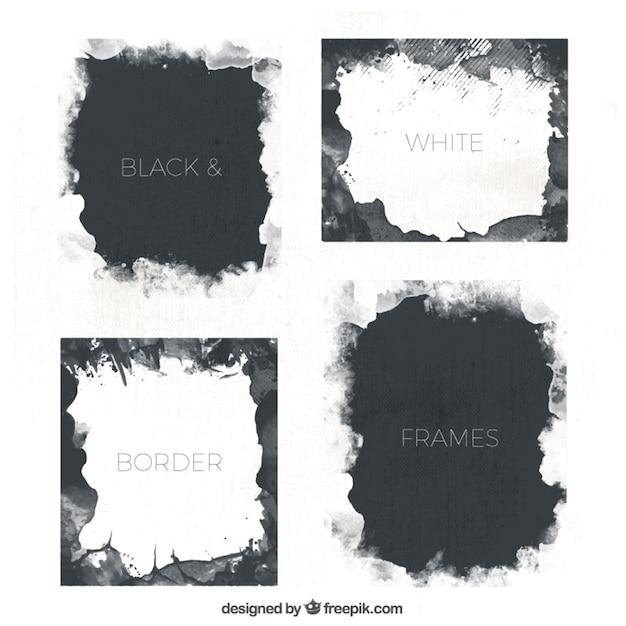 Set of watercolor artistic frames Vector | Free Download