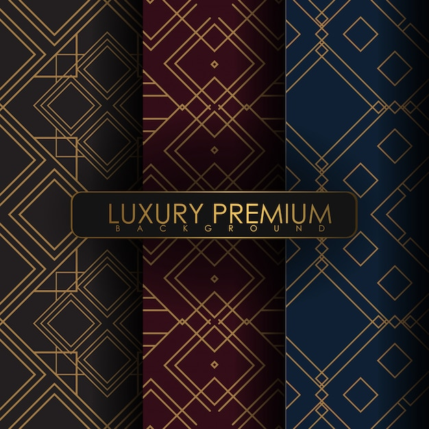 Set of ornament seamless pattern Premium Vector