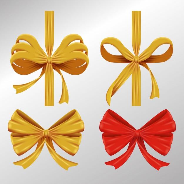 Set of ornamental ribbons Free Vector