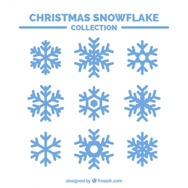 Set of ornamental snowflakes Free Vector