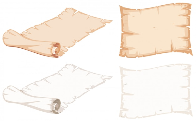 Set of paper roll Free Vector