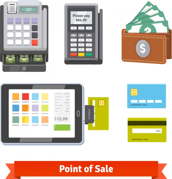 Set of payment icons Free Vector