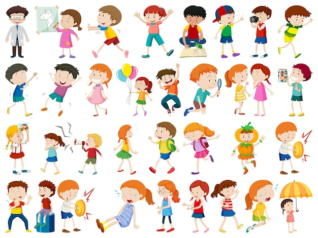 Set of people character Vector | Free Download