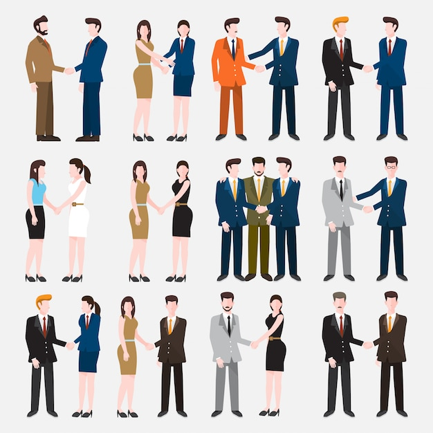 Set peoples Premium Vector