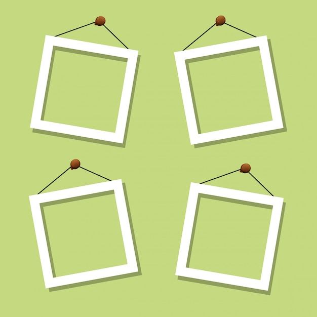 Set of photo frame Free Vector