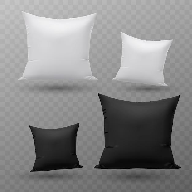 Set of pillows. Premium Vector