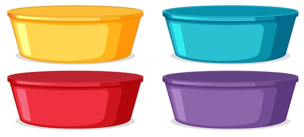 Set of plastic container Free Vector