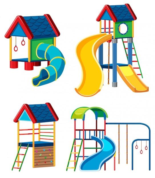 Set of playground equipment Free Vector