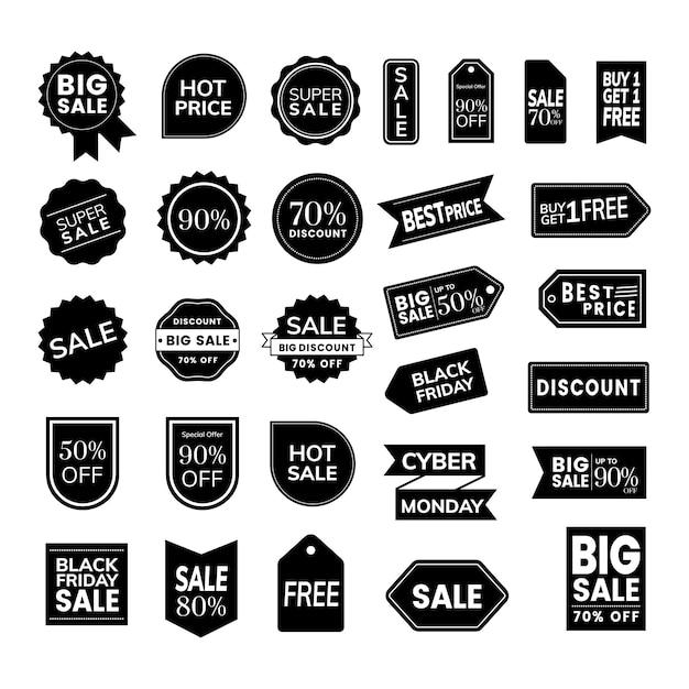 Set of promotion badge vectors Free Vector