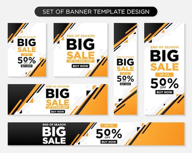 Set of promotion modern banner template Premium Vector