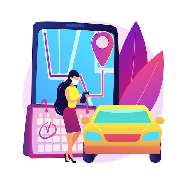 迅速かつ効率的なピックアップサービスの抽象的な概念図を設定します。従業員の安全、中小企業の所有者、コロナウイルスへの曝露、クイックサービスの顧客、注文の組み立て 無料ベクター