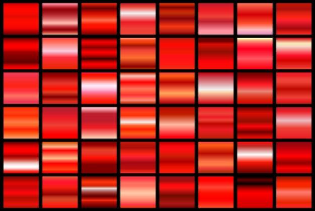 Premium Vector Set Of Red Gradients