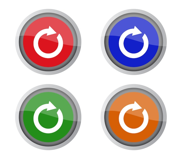 Set of reload buttons Premium Vector