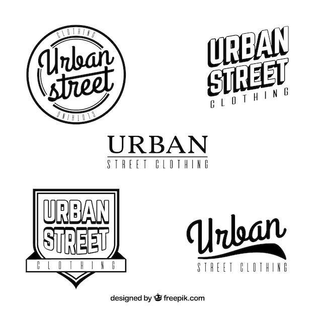 Set of retro urban insignias Free Vector