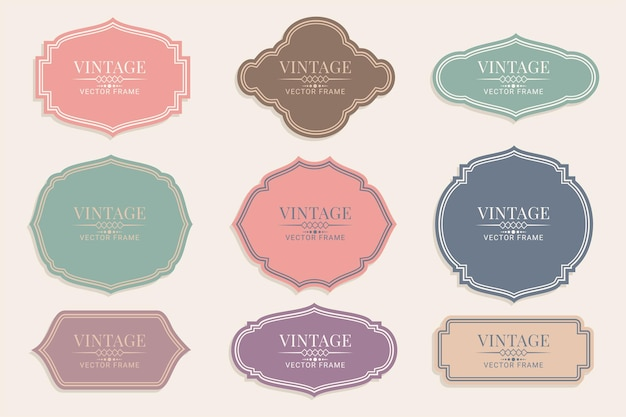 Set of retro vintage badges and labels Free Vector