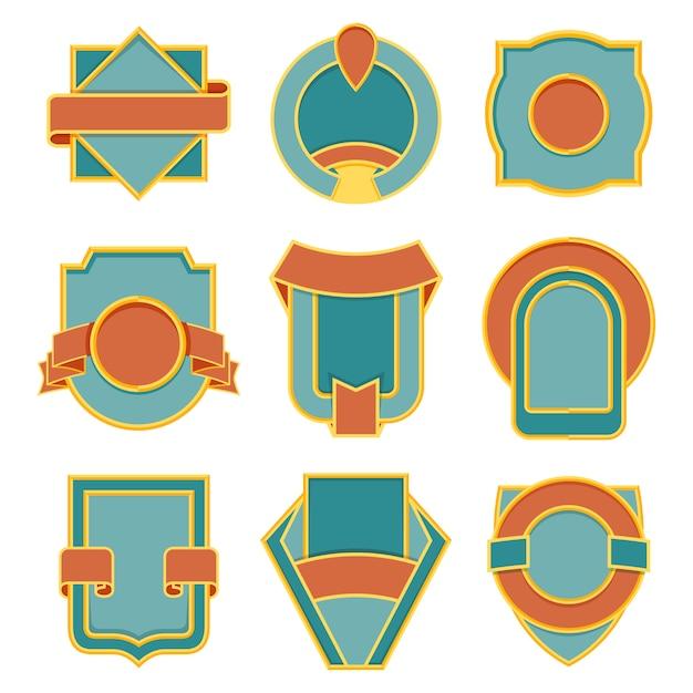 Set of retro vintage badges. vector badge flat modern style illustration. logo, emblem, label design Premium Vector