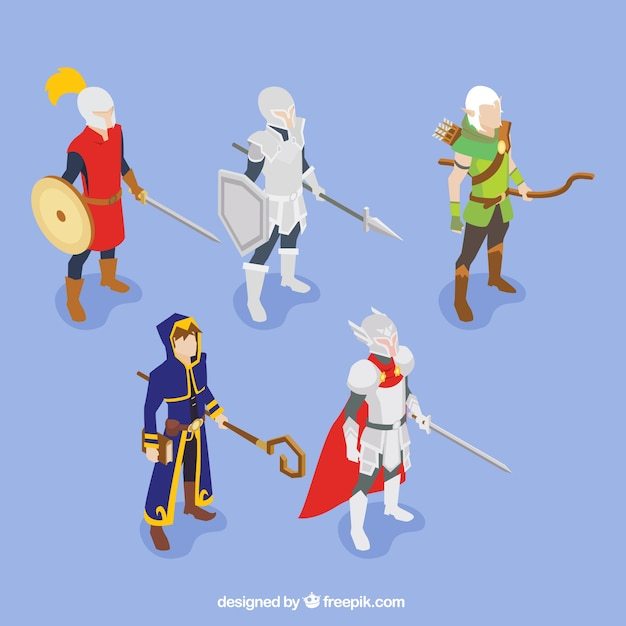 Set of role game characters Free Vector