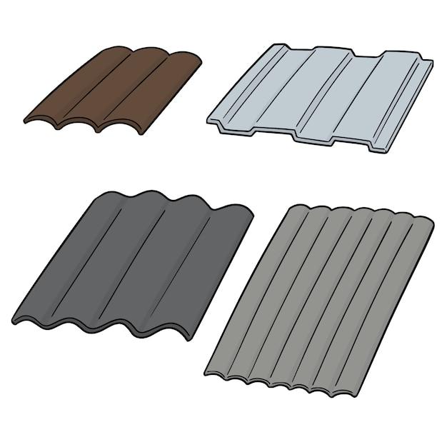Set of roof tile Vector   Premium Download