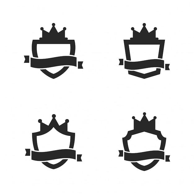 Set of royal shield Premium Vector