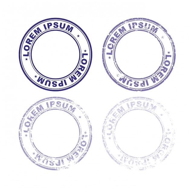 Установите резиновый штамп для документов. Premium векторы