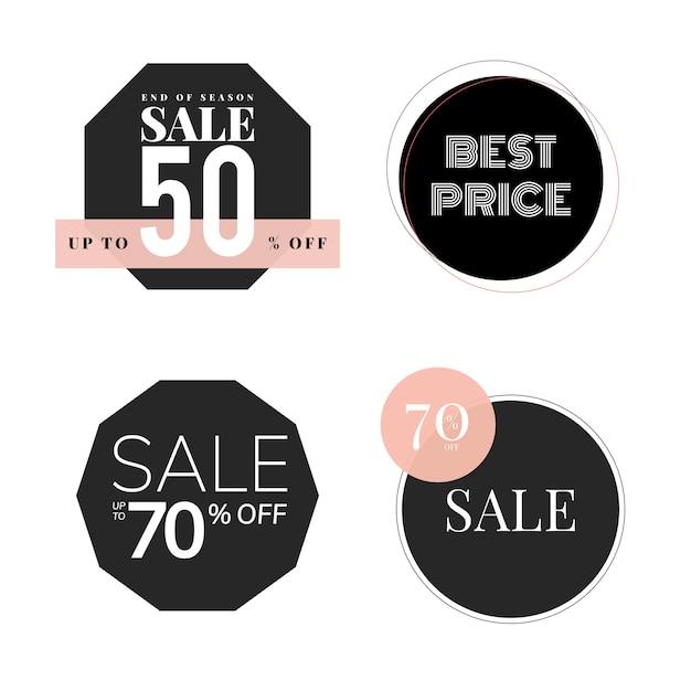 Set of sale promotion design template Free Vector