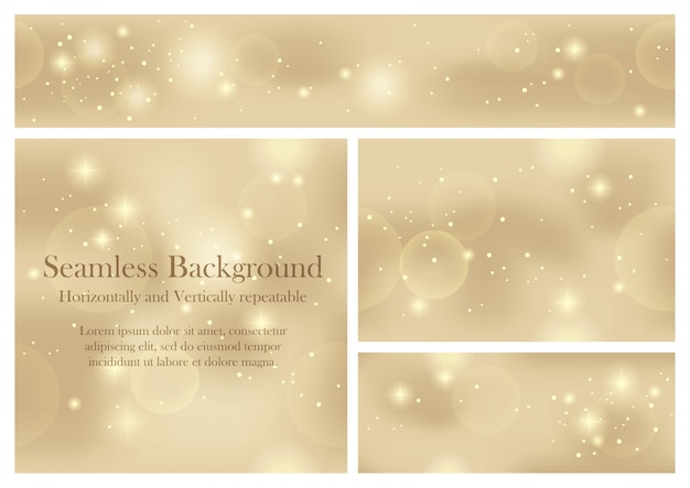 Set of seamless pattern vector abstract backgrounds. horizontally and vertically repeatable. Premium Vector