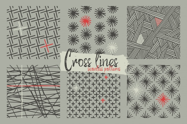 Set of seamless patterns Free Vector