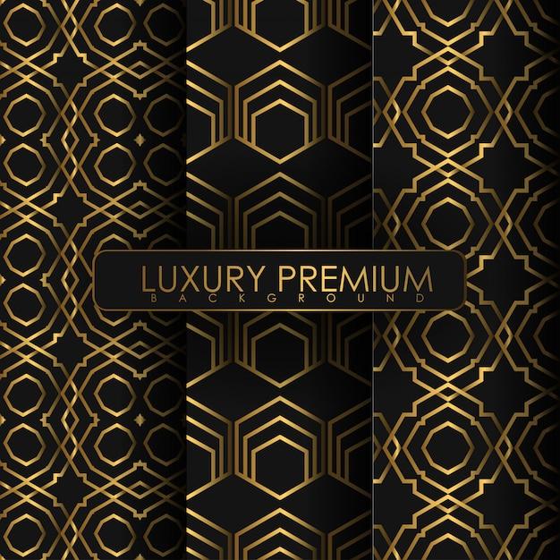 Set of seamless vintage pattern Premium Vector