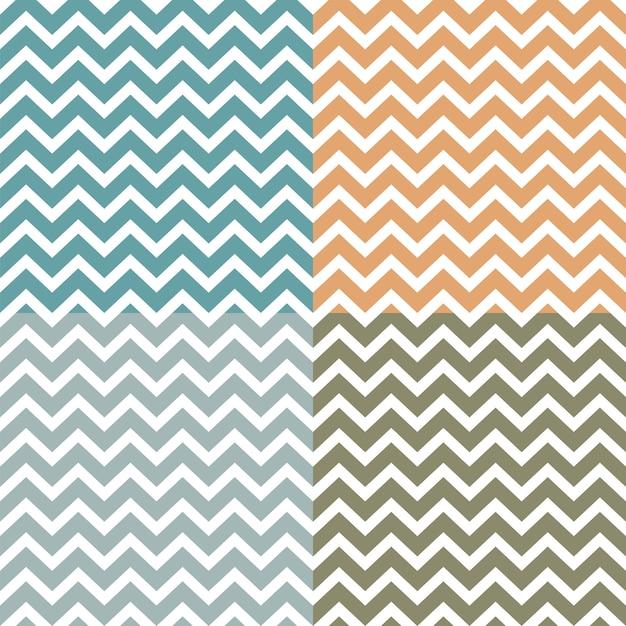 Set of seamless zigzag (chevron) patterns Premium Vector