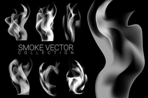Set of smoke Free Vector