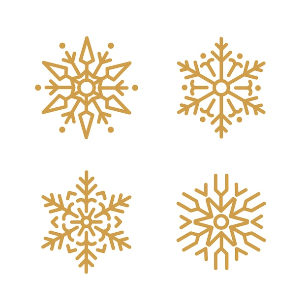 Insieme di vettore di disegno di natale fiocchi di neve Vettore gratuito