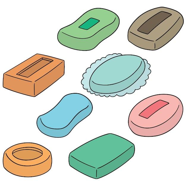 Set of soaps Premium Vector