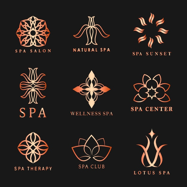 Set of spa logo Free Vector