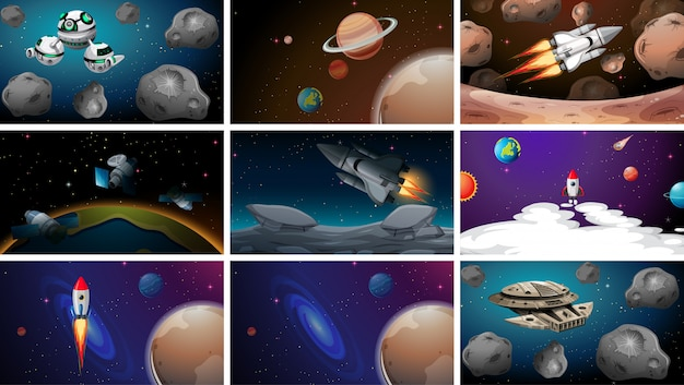 Set of space s Free Vector